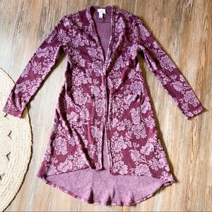Knox Rose Floral Cardigan Sweater Size XS
